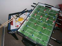 Children's multi game table. Table football, table tennis, air hockey, pool