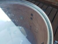 Tama Starclassic birch bubinga drum kit in satin white pearl