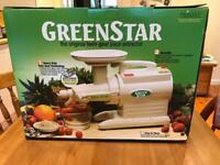 Juicer Green star gs 1000 twin gear BOXED UNUSED