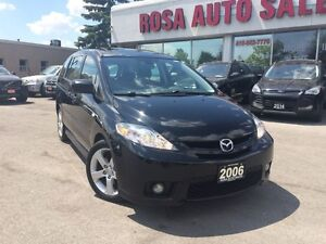 2006 Mazda MAZDA5 AUTO 4 DR LOW KM 71000 FACTORY WARRANTY SAFETY