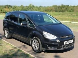 7 Seater Ford S-Max 2.0 TDCi Zetec 5dr 3 M Warranty,1Yr MOT,New Turbo