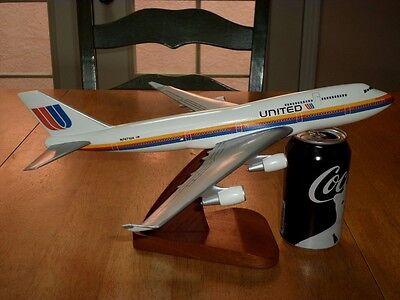 United Airliner Passenger Airplane  Handmade Philippines  13   Wood Model Statue