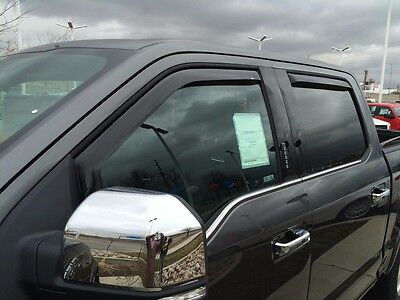 In-Channel Wind Deflectors: 2007-2014 Chevy Silverado 2500/3500 Extended Cab