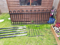 Black metal fencing