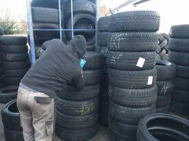 Part Worn Winter Tyres & M+S 55/16,215/225/235/245/255/285/315/35/40/45/50/60/65/17/18/19/20/295/21