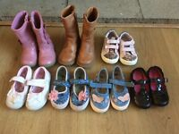 Girls toddler shoes size 6 bundle x7