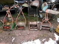 Vintage push mowers
