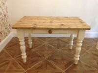 Bespoke handmade farmhouse dining table and bench