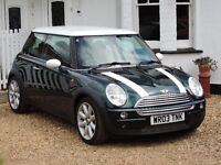 2003 MINI Cooper Automatic British Racing Green/White Roof Low Miles Great Condition 12 Months MOT