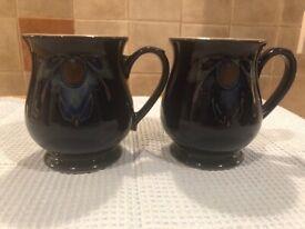 Denby pottery Baroque mugs (2)