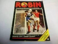 Bristol city vs derby county 1981 fa cup program