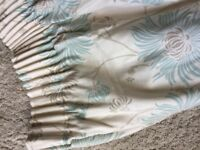 Laura Ashley lined curtains with matching cushion