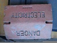 Danger electricity Reclaimed brick