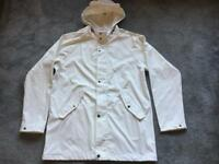 H&M ladies rainy coat hoodies full zipper light weight beige size L/14 used good condition £6