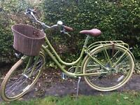 Vintage Style Raleigh green bicycle