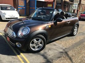 Rare Low Mileage Automatic 2009 Mini Cooper Convertible Hot Chocolate Rare Colour with Brown Leather