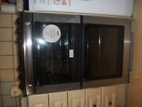 Zanussi Electric Double oven, Ceramic Hob. 550cm wide. Good, clean condition.