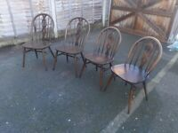 Set of 4 Ercol dining Chairs