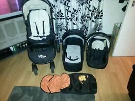 3 piece pushchair