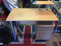 Desk For Sale With Draw And Cupboard Only £20