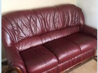 Leather sofa, like new could deliver
