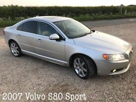 2007 Volvo S80 SPORT SE 2.4 Diesel geartronic - Full Service History 10 Stamps - xenon lights