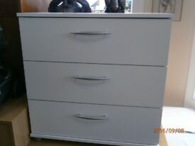 NEW Chest of 3 Drawers White