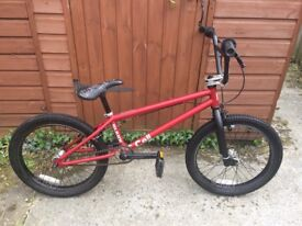 RED BLANK CELL BMX BIKE GREAT QUALITY