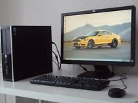 HP COMPAQ 8200-i5- ELITE SFF PC+HP 22 INCH MONITOR