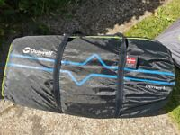 WAS £600 NEW - OUTWELL DENVER 4 TENT - 4 MAN TENT (one tear, no pegs)