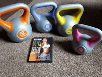 Kettle bells and instruction dvd