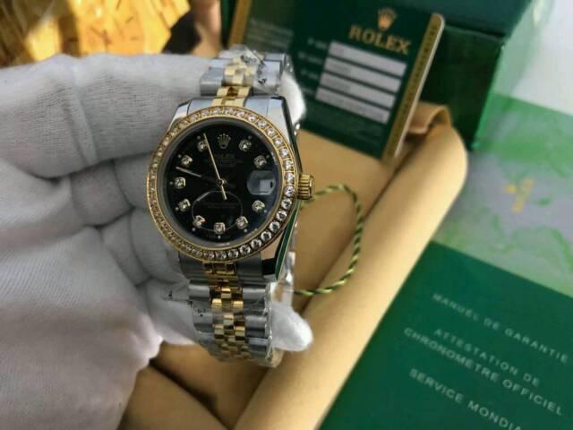 e900d767e7b LADIES Rolex Datejust Diamond Bezel Black Dial Bi-metal | in Upton ...