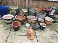 Garden Pots, Figures. From £4 each, Belfast sink is £35