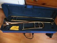 trombone with carry case