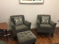 Brand new NEXT Alfie armchairs in mid charcoal grey