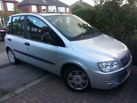 Fiat Multipla JTD, diesel, 57 plate, mot till Oct, 70400 miles, 6 seater people carrier