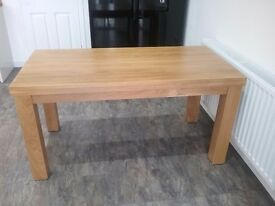 """Contemporary Chunky 5ft x 2ft 6"""" Natural Real Oak Dining Table"""