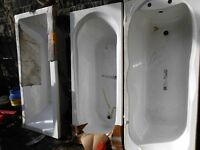 TWO BATHS IN WHITE ( NEVER BEEN USED)