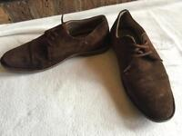 Upper real leather suede brown size 10/44 used £5