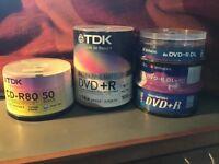 DVD blanks and CD roms