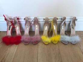 Size 6 Fluffy Stiletto Heels - 4 Summer Colours - Used for High Fashion Photoshoot