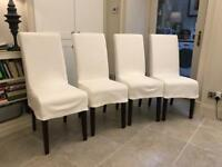 OKA Dining Chairs with cotton covers