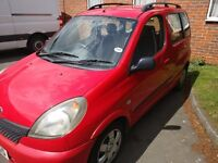 Toyota Yaris Verso 2000 Auto 1.3 low mileage Car for Quick sale