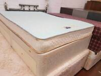 Slumberland double mattress and divan base set with 4 drawers