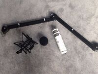 Rode podcaster with rode shock mount and boom arm