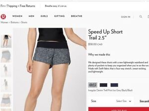 """Get these Lululemon """"Speed Up Short Trail"""" for 50% off"""