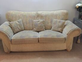 Sofa Suite For Sale!! Good as new, well looked after, 3 seater, 2 seater, 2 stools + 5 cushions..