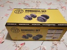 Gold's Gym Dumbells 18.8kg set