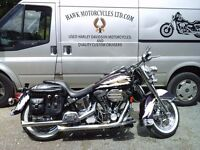 SOLD CUSTOMISED HARLEY DAVIDSON FLSTC SOFTAIL LOW MILEAGE, LOADS OF EXTRAS