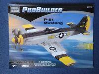 Mega Bloks pro-builder P-51 mustang kit (like Lego)